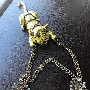Betsey Johnson Cheetah Necklace